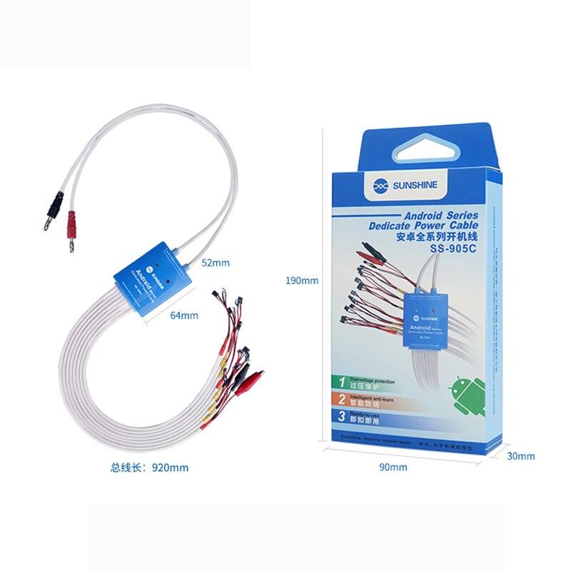 Sunshine SS-905C тест-кабель для Android источник питания одна кнопка загрузки управления линия для huawei xiaomi oppo samsung материнская плата ремонт