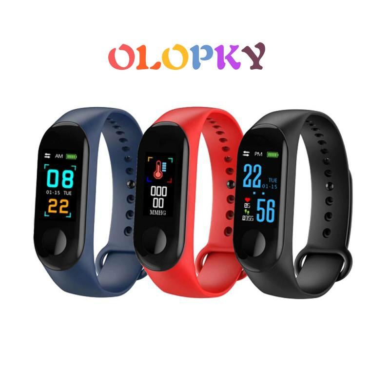 Pulsera M4 Fitness M3 Smart Band Bluetooth Monitor de ritmo cardíaco presión arterial podómetros de pulsera reloj inteligente para hombres
