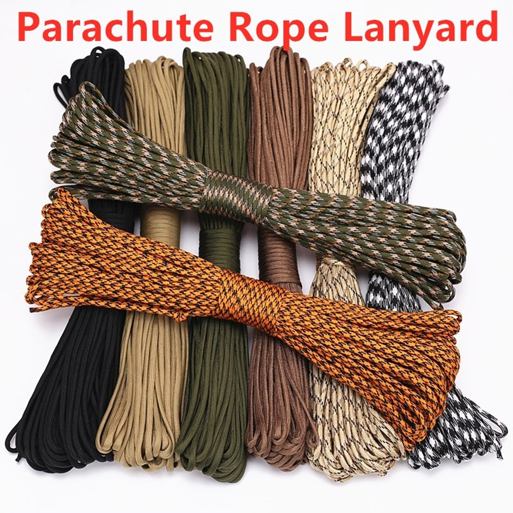 1PC 5M Dia.4mm 9 stand Cores Rope For Survival Parachute Cord Lanyard Camping Climbing Camping Rope Hiking Clothesline 5 meters dia 4mm 7 stand cores paracord for survival parachute cord lanyard camping climbing camping rope hiking clothesline