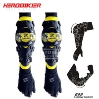 yellow motocross elbow pads knee pads moto equipement racing riding motorcycle protection elbow guard summer