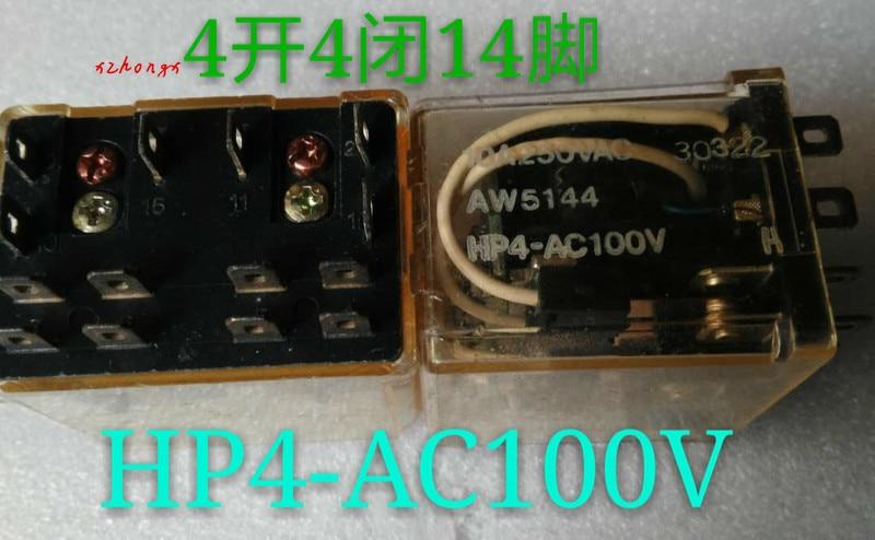 HP4-AC100V genuíno japão relé aw5144 10a teste de desmontagem bom ponto
