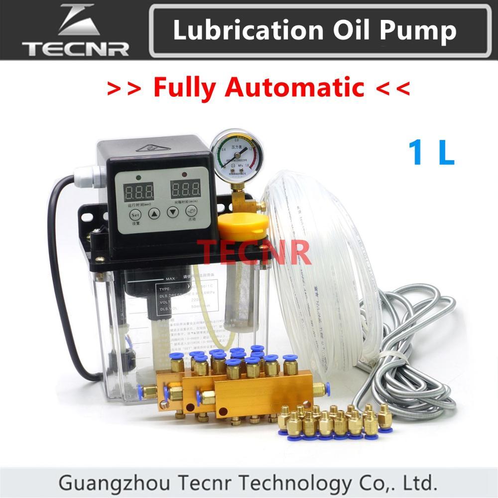 Полностью автоматический масляный насос 1 л с манометром ЧПУ электромагнитный