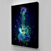 Nouveau mur Art decor a la maison Cool guitare image HD impression abstraite affiche moderne toile peinture chambre salon pour cadeau de mode