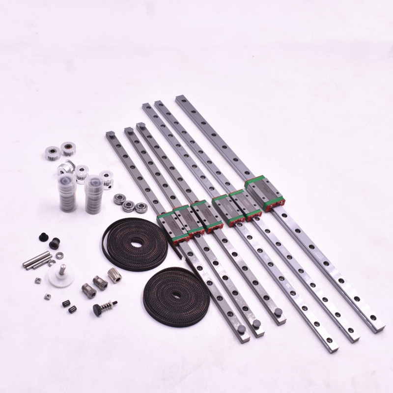 Funssor Voron ترايدنت ثلاثية الأبعاد طابعة الحركة الميكانيكية عدة F695 2RS Hiwin MGN9H MGN12H الخطي GT2 بكرة بوابات LL-2GT RF حزام