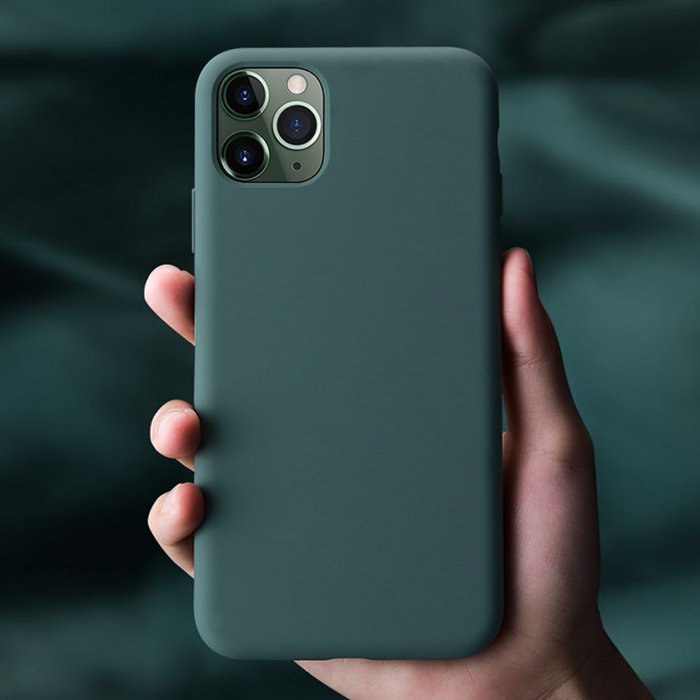 Funda de silicona para iPhone 11 Pro Max 11 Pro, funda Original oficial de gran calidad para iPhone 7 8 Plus X Xr Xs Max
