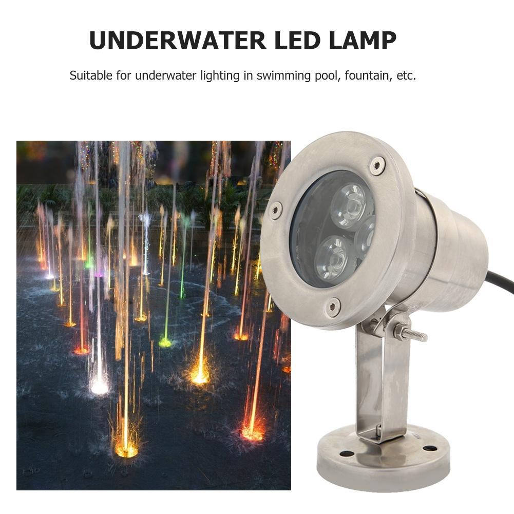 3w dc12v subaquatica conduziu a fonte luzes ip65 branco morno para o consumo de