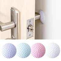 1pcsbag rubber doorknob shock collision rails mat pad silent door rear pad door handle anti collision wall buffer stick