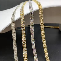 1yardlot 3 rows of claw chain wedding dress chain accessories material diy clothing accessories a drill multicolor