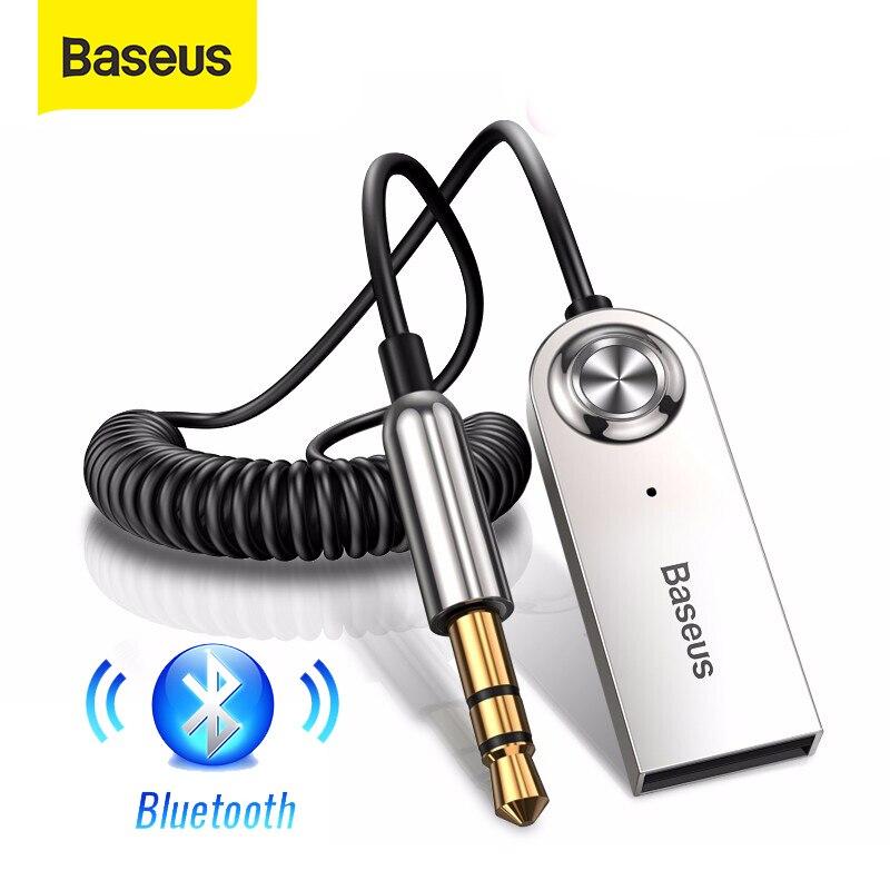 Baseus-adaptador Aux Bluetooth 3,5 para coche, Kit de manos libres con conector...