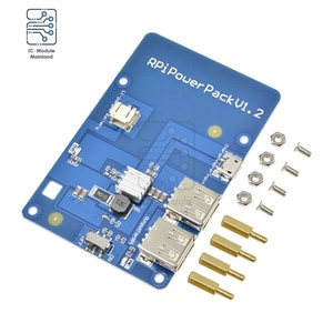 Power Pack V1.2 Lithium Battery Expansion Board With USB Hub For Raspberry Pi