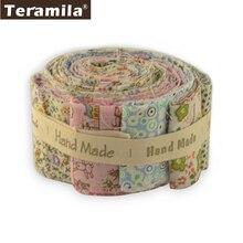 Teramila 100% Katoen Stof Gedrukt Bloem 5X50 Cm Jelly Roll Strips 6-9 Stks/partij Telas Diy Patchwork doek Tissus Quilts Craft
