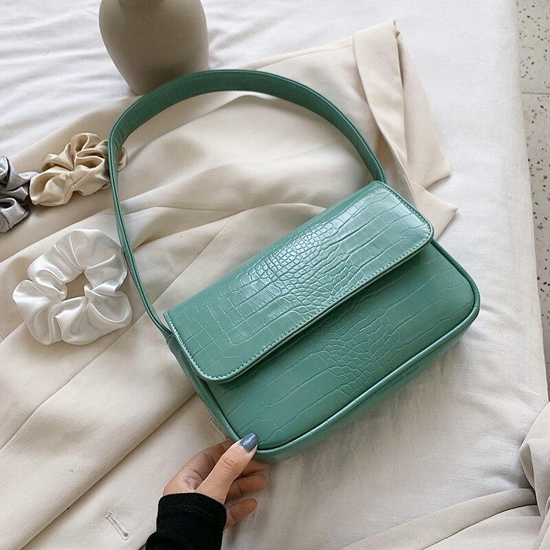 Crocodile Pattern Small PU Leather Shoulder Bags For Women 2020 Elegant Handbags Female Travel Totes Lady Fashion Armpit bag