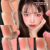 blush peach cream makeup 6 colors palette cheek contour face mineral pigment cheek blusher powder contour shadow cosmetics