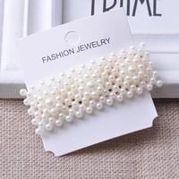 ins fashion 1set women girls elegant pearls hair clips alloy barrettes girls hair accessories set korean style hairpins
