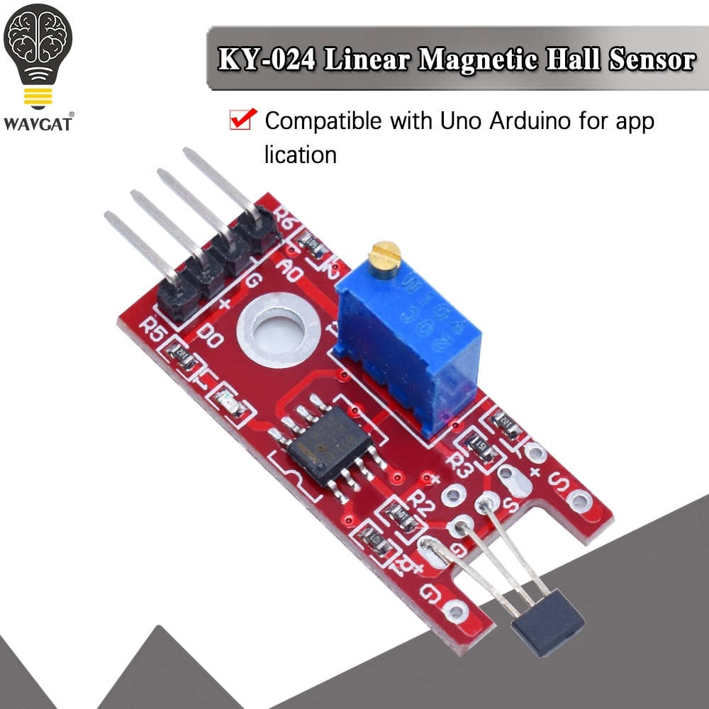 KY-024 Linear Magnetic Hall Sensor Board Switch Speed Counting Hall Sensors Module For Arduino Diy KY024 Hall Sensor