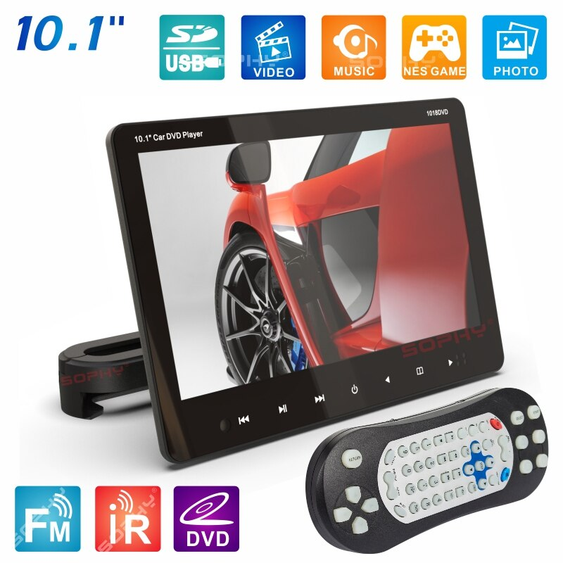 New 10.1 Inches External Car Headrest DVD Player Rear Seat Screen Monitor DVD/VCD USB/SD/HDMI/IR/FM SH1018DVD