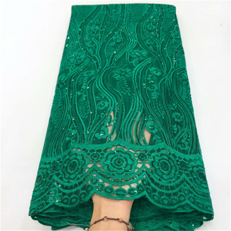 Verde leche seda encaje africano lentejuelas tela de encaje alta calidad francés tul tela de encaje nigeriano tela de encaje para vestido de novia
