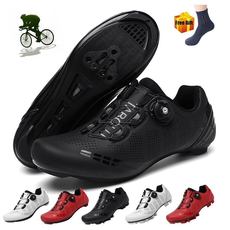 الدراجات أحذية الرجال في الهواء الطلق المهنية سباق الطريق SPD دواسة دراجة أحذية رياضية Sapatilha smosmos للجنسين الدراجة الجبلية MTB الأحذية