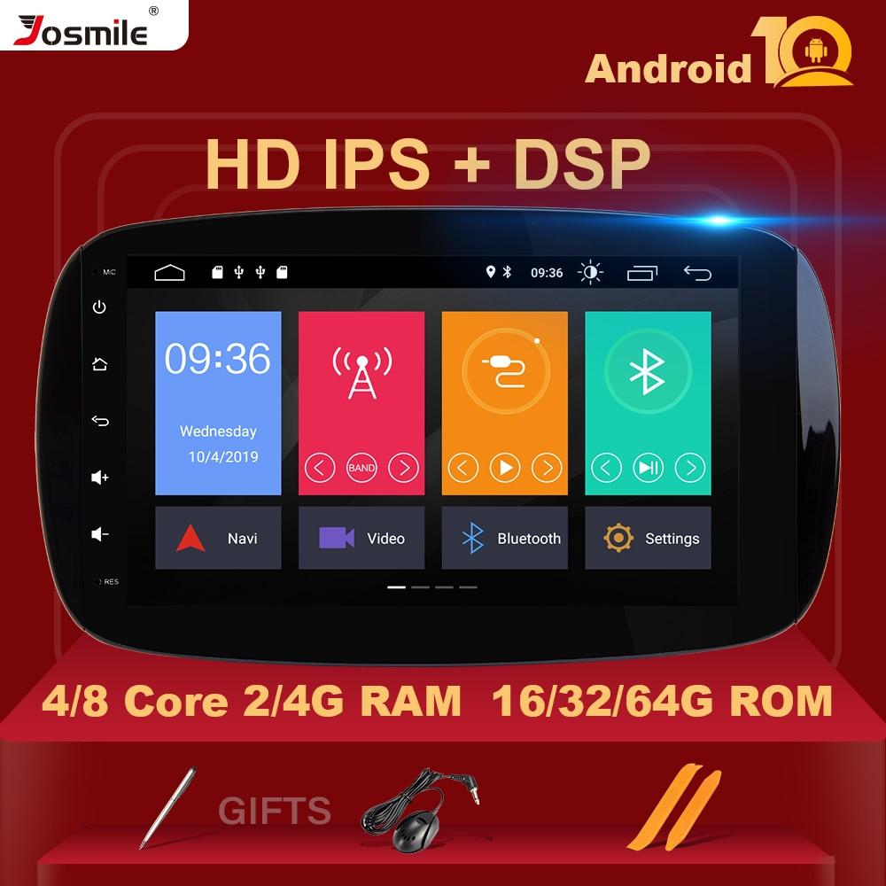 Автомагнитола IPS DSP 1 din с GPS, Android 10, мультимедийный плеер для Mercedes/Benz Smart Fortwo W453 W257 2015 2016 2017, навигация