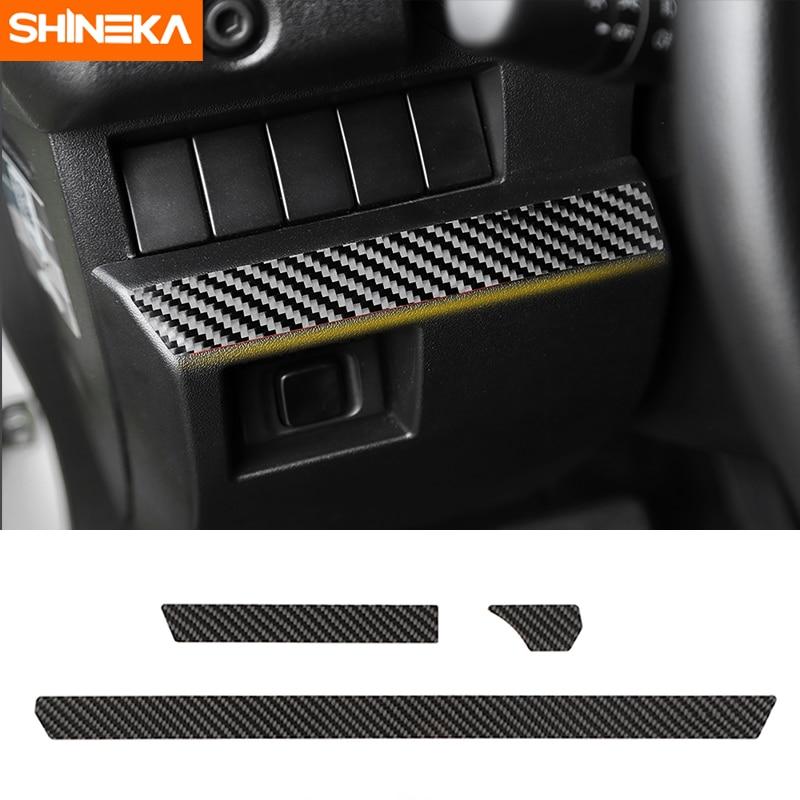 SHINEKA Carbon Faser Auto Zentrale Konsole Dekoration Streifen Innen Trim Aufkleber Für Suzuki Jimny 2019 + Zubehör Auto Styling