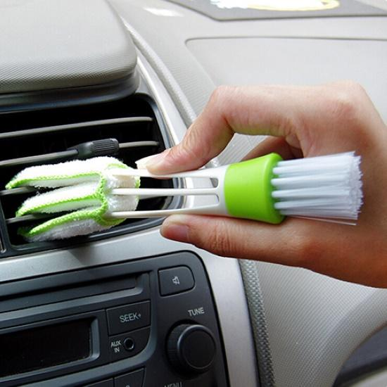 Car Air Conditioner Vent Brush Microfibre Car Grille Cleaner Auto Detailing Blinds Duster Brush Car-styling Auto Accessories
