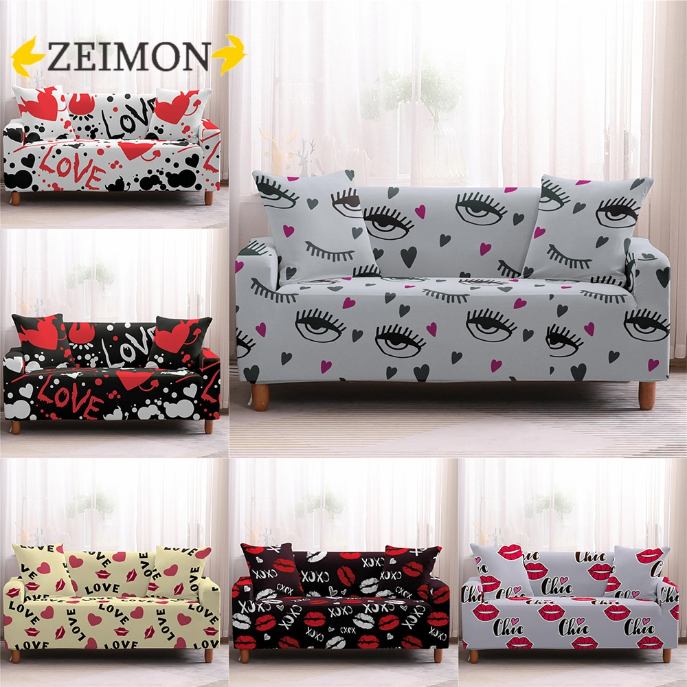 ZEIMON-غطاء مطاطي للأريكة والكرسي بذراعين 1/2/3/4 مقاعد ، لغرفة المعيشة ، متوافق مع صوفا زاوية