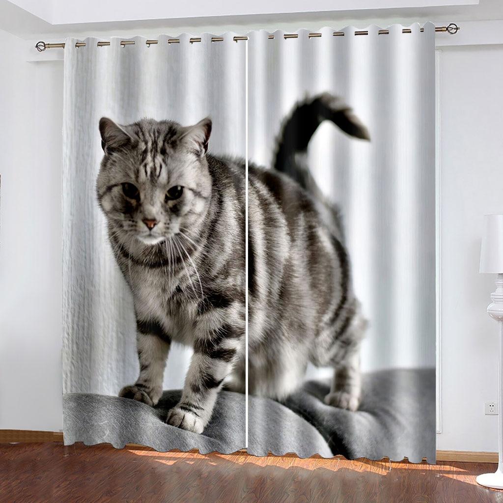 ثلاثية الأبعاد مطبوعة بسيطة ولطيفة الحيوان نمط ستائر تعتيم عدة ، ومناسبة للستائر المنزلية في غرفة المعيشة وغرفة النوم