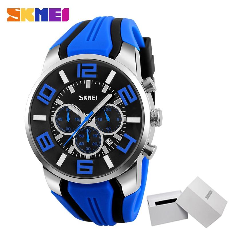 SKMEI Men Quartz Watches Fashion Casual Wristwatches Waterproof Sport Watch Colorful Including White Box Relogio Masculino 9128