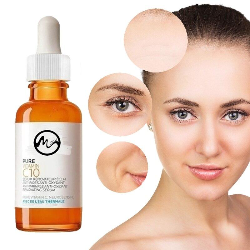 Minch 50ml Pure Vitamin C10 Skin Oil Hyaluronic Acid Serum Face Serum Whitening Anti-aging Anti-wrin