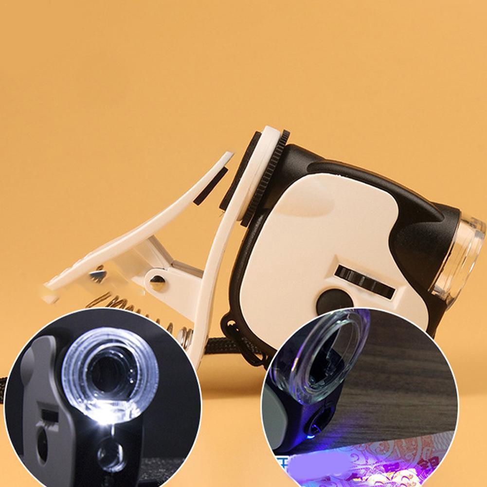 Портативный мини-микроскоп с УФ-лампой, антикварные ювелирные изделия