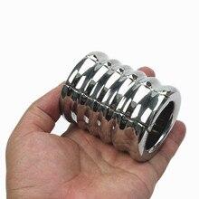 Scrotal pendentif Scrotum pendentif fer entrejambe travail mettre en œuvre testicules anneau attaché civière lié Alternative jouets sexuels B2-2-137