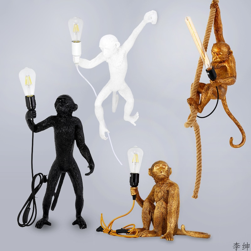 Moderno resina mono lámparas De Mesa habitación lámparas De Mesa Para El Dormitorio lámpara De luces De iluminación