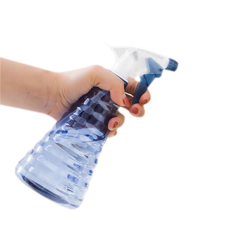 Pulverizador garrafa pequena casa jardinagem rega pode regar plástico resistente cor transparente 300 ml