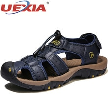 Men Sandals Leather Male Summer Shoes Outdoor Beach Gladiator Sneakers Sandalias Plus Size 48 High-q