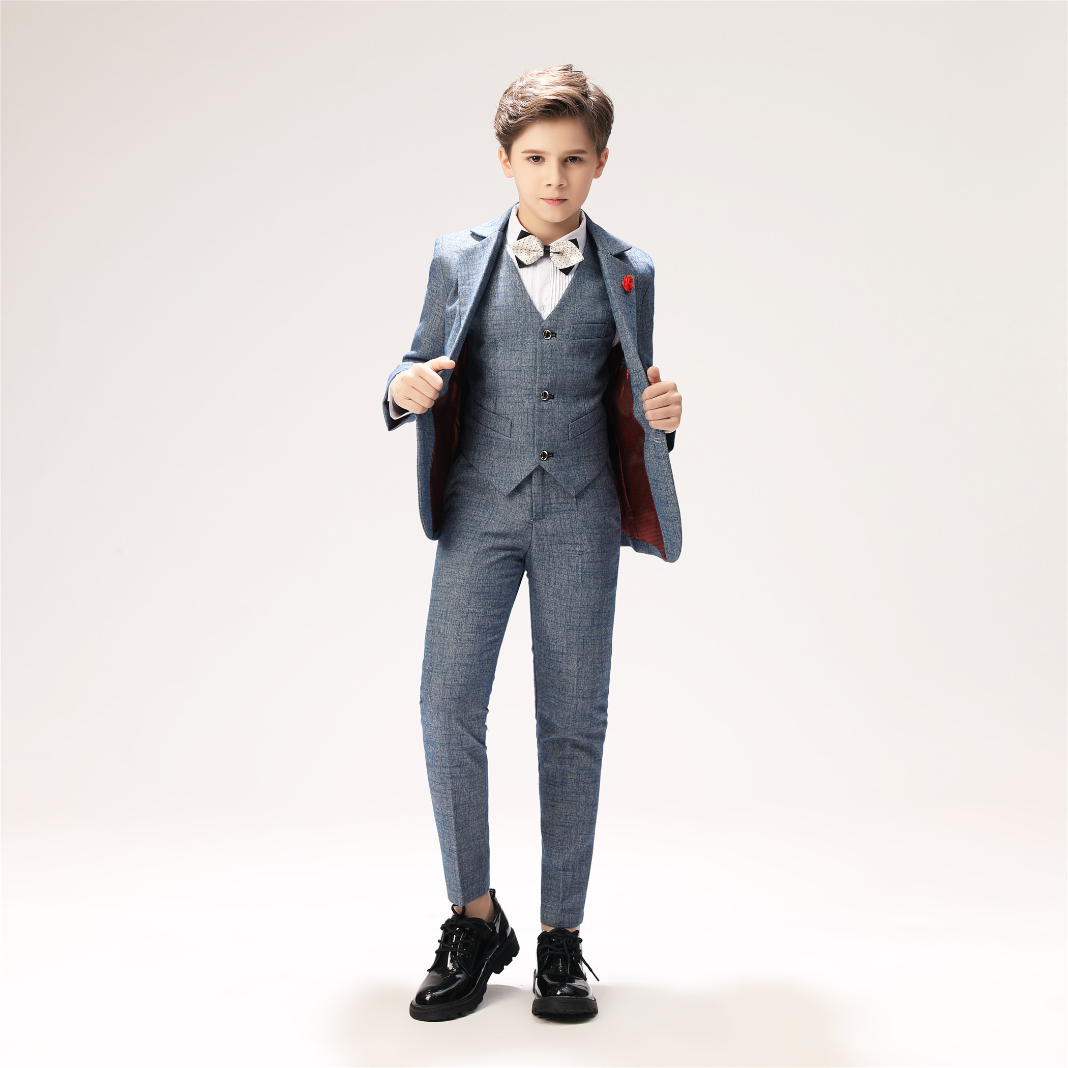 YuanLu Boys Suits Blazer Jacket For Wedding Piano 2019 BoysDress Woo Suit Autumn & Winter Kids Suits Child Clothes