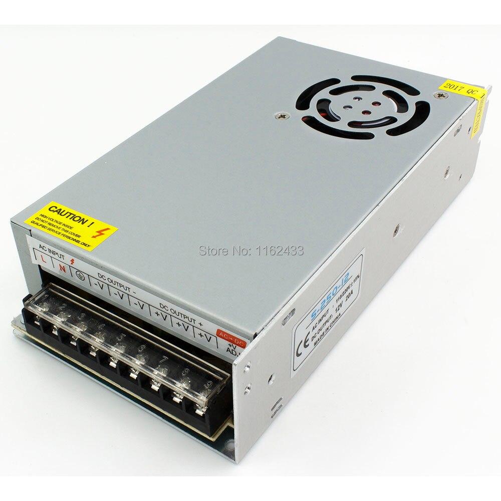 S-250-12 250W 12VDC 20A potencia de conmutación de un solo grupo AC 110 V/220 V a DC 12V
