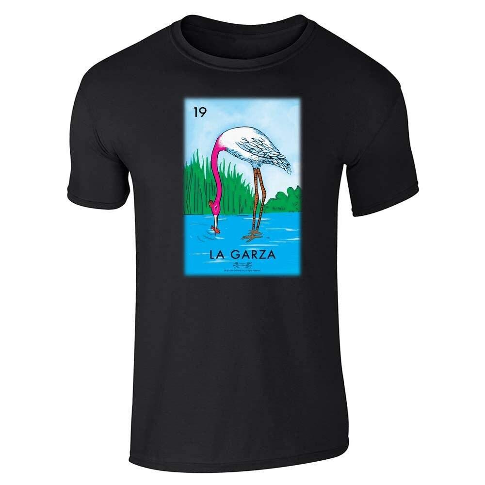 Camiseta con estampado de La Garza Heron Card para hombre, playera con...