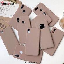 Brown Matte Phone Case For xiaomi redmi note 8 7 6 5 4 Pro 8a 7a 6 6A 5 5A 5 Plus 4A 4X S2 K20 Silicone Canndy Soft TPU Cover