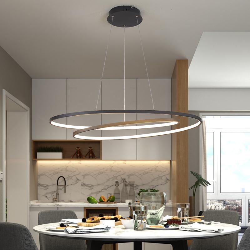 2019 New Arrival Modern led Pendant lights for living room dining room Matte Black/White 90-260V hanging Pendant lamp
