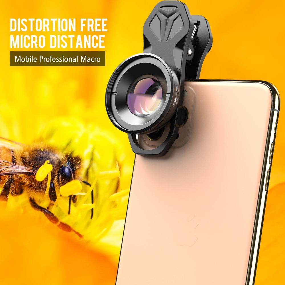 APEXEL HD 30-80 مللي متر سوبر ماكرو عدسة للهاتف المحمول التصوير مع CPL نجمة مرشحات ل فون Xiaomi سامسونج جميع الهواتف الذكية