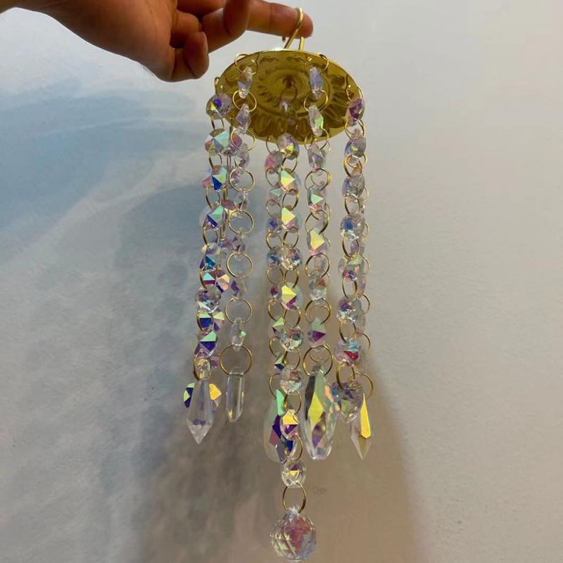 Handmade Wind Chimes For Home Decoration Colorful Crystal Eolic Bell Chimes Outdoor Garden Yard Lawn Decoration Present Colorful