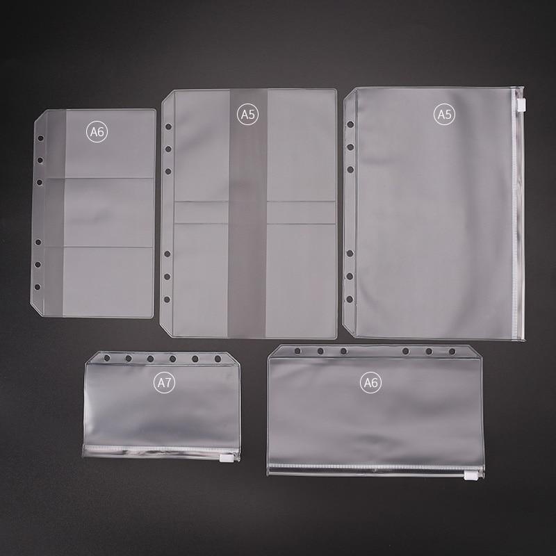 А4 А5 А6 А7 сумка для ноутбука из ПВХ, сумка для хранения, аксессуары для дневника, сумка на молнии, чехол для карт, сумка для хранения