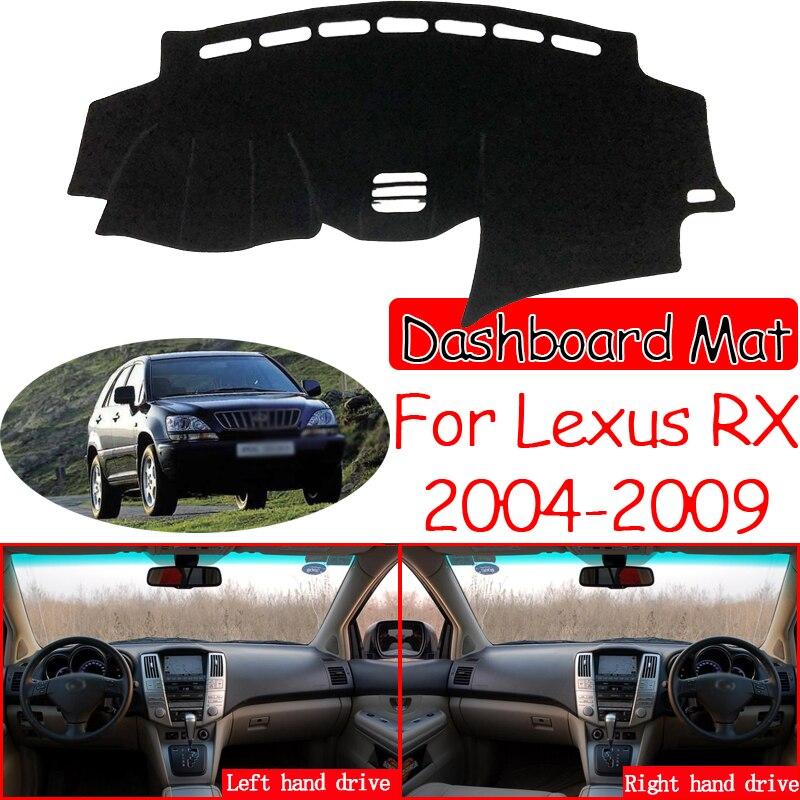 Para lexus rx 2004 2009 2006 xu30 antiderrapante esteira painel capa pára-sol dashmat proteger acessórios do carro rx300 rx330 rx350 rx400h