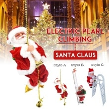 2021 Santa Claus Decoration Electronic Toys Kids Doll Toys Christmas Musical Climbing Ladder Gift Ho
