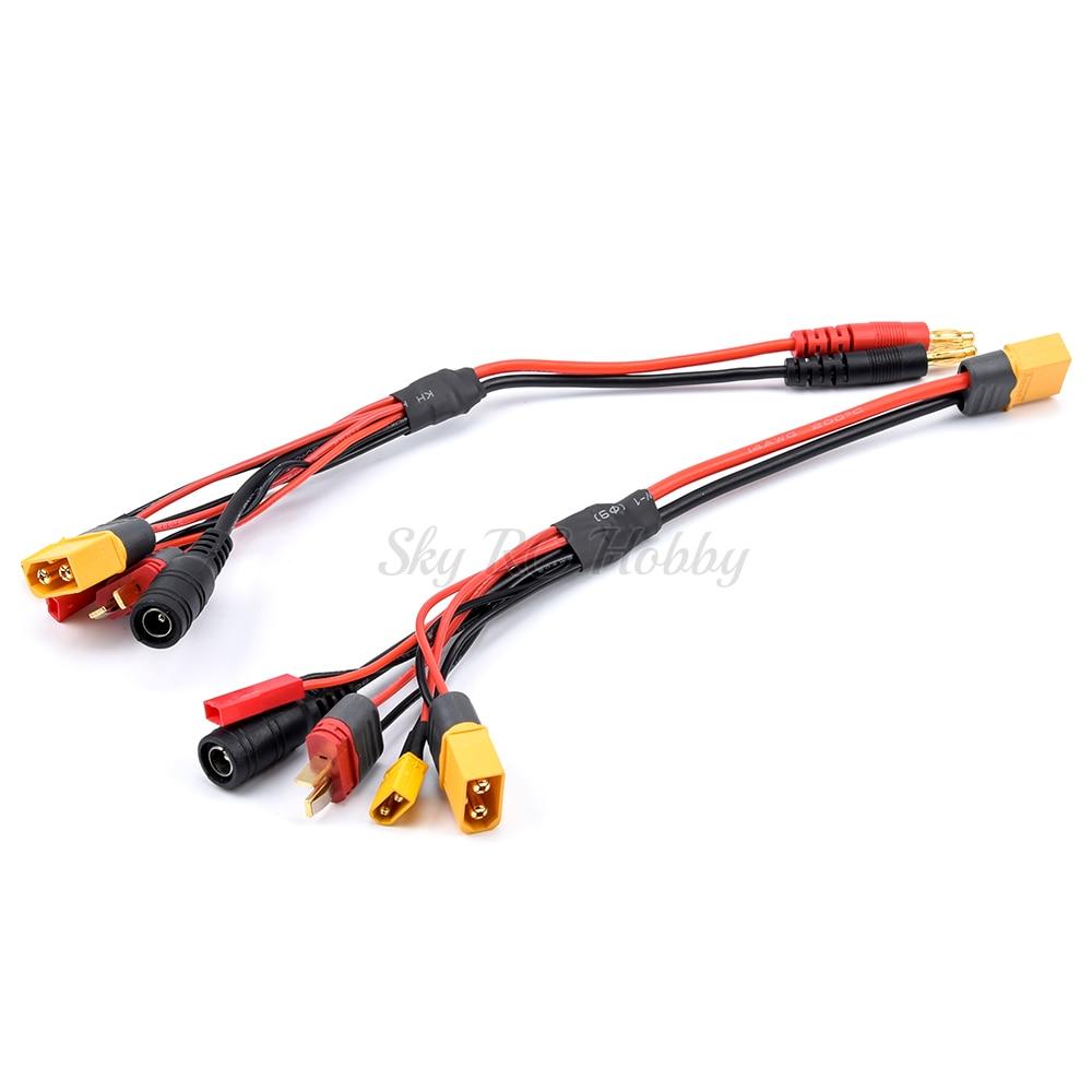 20cm 18AWG 4,0mm Banana Stecker XT60 zu XT60 XT30 DC 5,5 T Stecker Ladegerät Adapter Kabel für IMAX b6 ISDT Ladegerät FPV RC Racing Drone