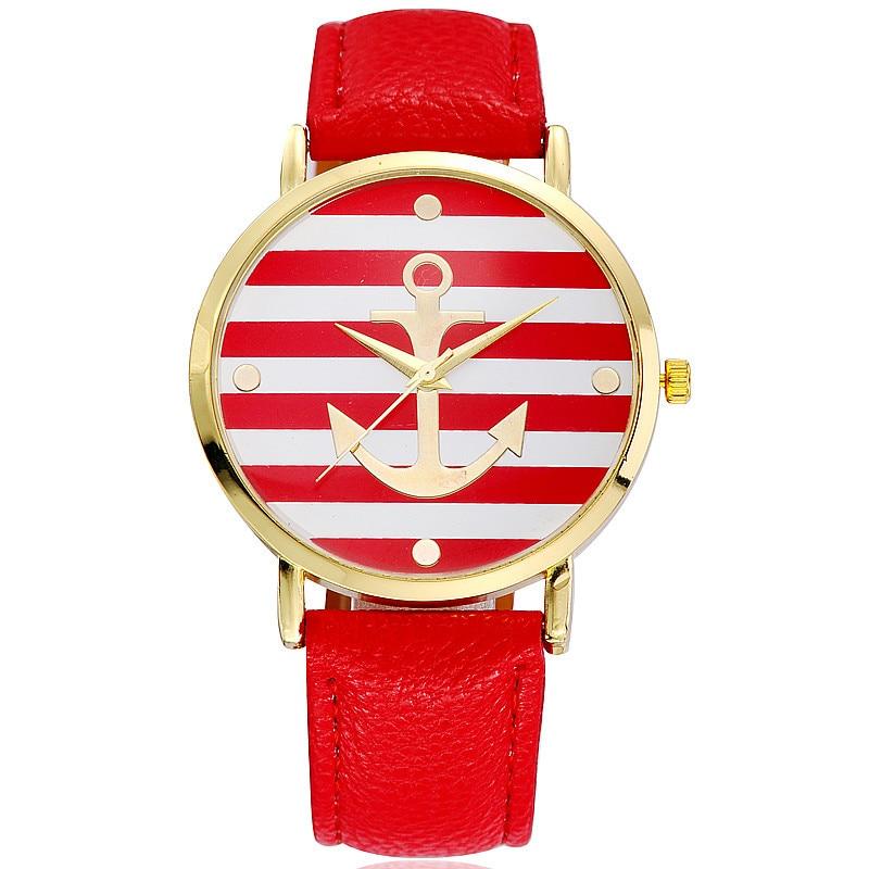 Anchor Watch Women Leather Quartz Watches Geneva White Casual Woman Watches Female Clock Relogio Feminino enlarge