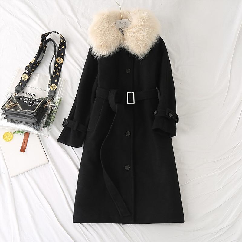 كبيرة الحجم النساء ملابس شتوية ملابس جديدة النمط البريطاني القطن متوسطة طول معطف بسيط فضفاض الكاكي Xl-5XLhooded سترة الصلبة