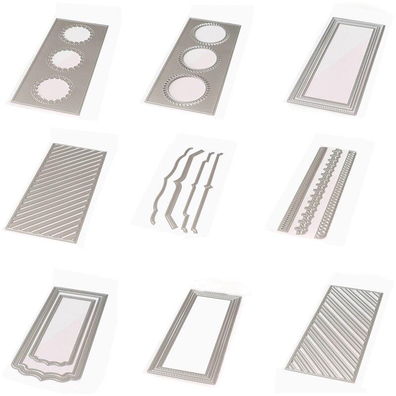 Background Slim Essentials Rectangle strip braided diagonal Metal Cutting Dies For Christmas Card  DIY Scrapbooking Cards Making