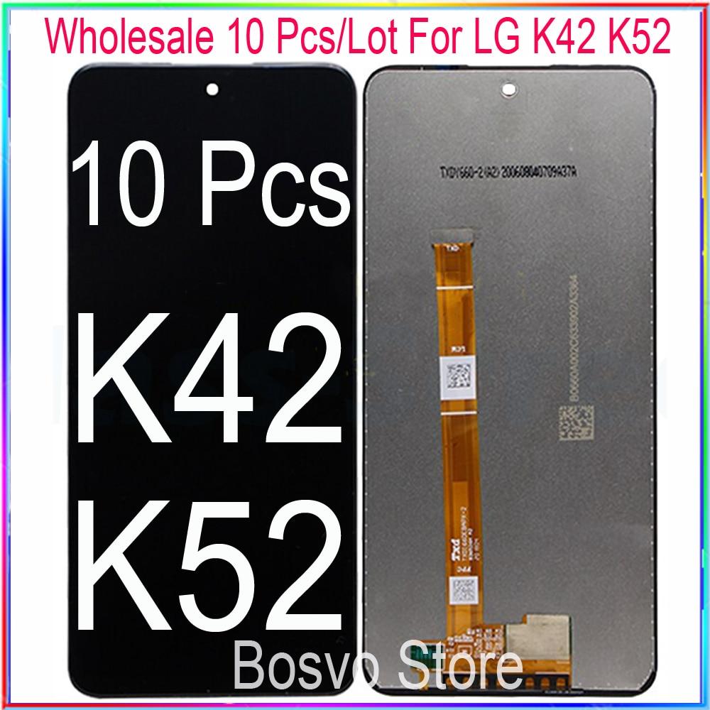 الجملة 10 قطعة/الوحدة ل LG K42 K52 K62 LCD شاشة عرض مع اللمس محول الأرقام الجمعية K420 K420HM k420bmw K520 K520bmw