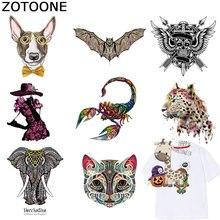 ZOTOONE animaux patchs pour vêtements papillon hibou autocollants fer sur Patch pour enfants T-shirt accessoire Appliques transfert de chaleur F1